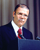 Washington, DC - July 6, 2009 -- Former United States Secretary of Defense Robert S. McNamara, Architect of Vietnam War, died in his sleep at his home in Washington in the early morning of Monday, July 6, 2009. McNamara, who served as Secretary of Defense under Presidents Kennedy and Johnson, was 93.  This undated file photo shows McNamara speaking at the International Monetary Fund (IMF)..Credit: Arnie Sachs / CNP