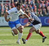 Gonzalo Canale (Italia) William Servat (Francia)<br /> Italia vs Francia  22-21<br /> RBS 6 Nations Rugby Championship 2011<br /> Stadio Flaminio;<br /> Roma, 12/03/2011<br /> Photo Antonietta Baldassarre Insidefoto