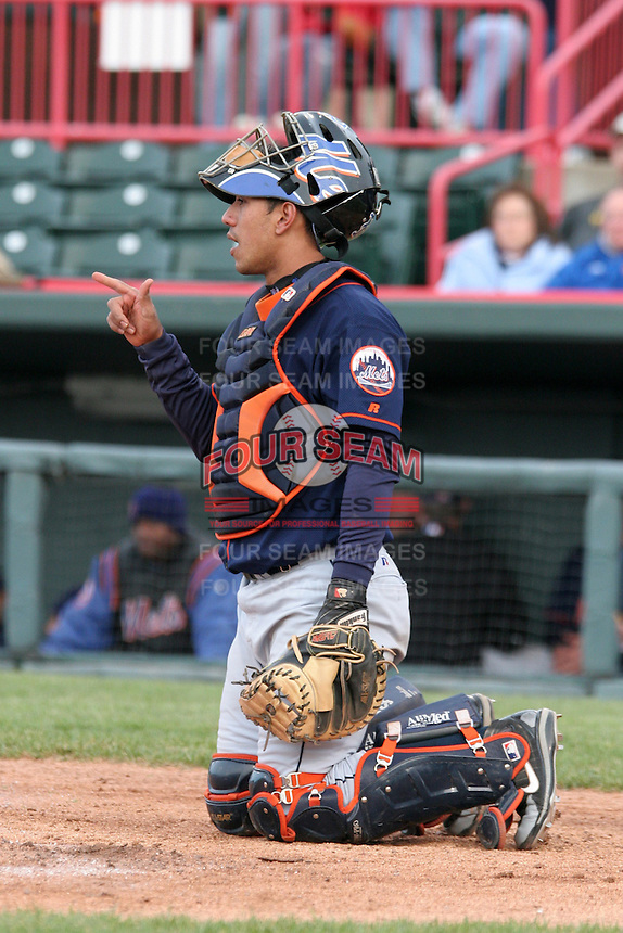 Binghamton Mets Yunir Garcia during an Eastern League game at Jerry Uht Park on April 29, 2006 in Erie, Pennsylvania.  (Mike Janes/Four Seam Images)