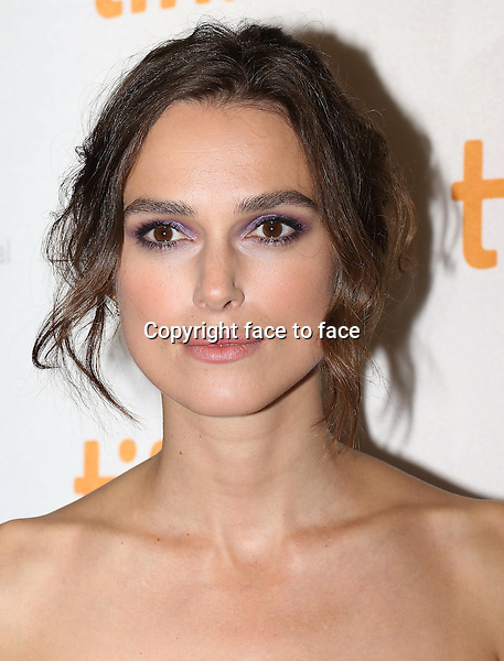 Keira Knightley attending the 2013 Tiff Film Festival Red Carpet for &quot;Can A Song Save Your Life?&quot; at The Princess of Wales Theatre on September 7, 2013 in Toronto, Canada.<br />