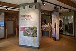 Framingham castle, Suffolk, England, UK - information display
