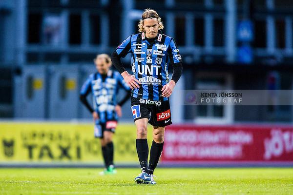 Uppsala 2014-05-07 Fotboll Superettan IK Sirius - &Ouml;stersunds FK :  <br /> Sirius Kim Skoglund deppar<br /> (Foto: Kenta J&ouml;nsson) Nyckelord:  Superettan Sirius IKS &Ouml;stersund &Ouml;FK depp besviken besvikelse sorg ledsen deppig nedst&auml;md uppgiven sad disappointment disappointed dejected