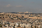 Israel, Jerusalem. The view from Haas promenade