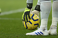 3rd November 2019; Selhurst Park, London, England; English Premier League Football, Crystal Palace versus Leicester City; Detail view of Kasper Schmeichel of Leicester City gloves - Strictly Editorial Use Only. No use with unauthorized audio, video, data, fixture lists, club/league logos or 'live' services. Online in-match use limited to 120 images, no video emulation. No use in betting, games or single club/league/player publications