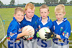 FUN TIME: Young football stars from Currow enjoying the Kerry GAA VHI Cul Camp in Currow on Friday last..L/r. Brian O'Shea, Tomas Fealy, James Brosnan and Patrick Warren (Gneeveguilla).    Copyright Kerry's Eye 2008