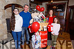 The launch of the Irish Heart Foundation fundraiser in Flahives Bar, Ballyheigue on Tuesday and it will be held on Saturday Feb the 16th in Flahives Bar, Ballyheigue<br /> Front:  Darragh Lee.    <br /> Back l to r: Amy, Bernard Treasa and Kiara Lee,