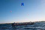 Dans la baie de Hann, trois pirogues naviguent tract&eacute;es par les cerfs-volants de survie.Au de la d'un moyen de survetage, les p&ecirc;cheurs y voient une fa&ccedil;on d'&eacute;conomiser du carburant.<br /> <br /> a kite for rescue the artisans fishermen of Senegal this is the dream of Stephane Blanco.<br /> St&eacute;phane Blanco shows his kite of fishermen