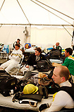 USA, Tennessee, Nashville, Iroquois Steeplechase, inside the jockey tent before the 7th and final race