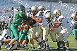 Torrance, CA 10/06/11 - unidentified Peninsula player(s) in action during the Peninsula vs South Torrance Frosh football game.