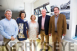 Pictured at the Opening of a Photo Exhibition of work by Donal Ó Máirtín in the Cahersiveen Library on Saturday were l-r; Emmett, Fionnuala & Deirdre Ó Máirtín with John O'Donoghue & Frank Curran.  The exhibition was opened by John O'Donoghue and the proceeds of the sales will be donated to Cunamh Iveragh.