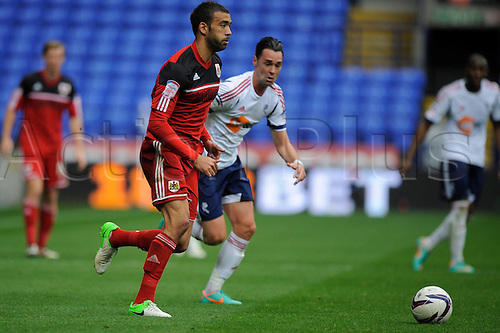 20.10.2012 Bolton, England.Liam Fontaine of Bristol City   in action during the Championship game between Bolton Wanderers and Bristol City from the Reebok Stadium.