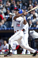 Moises Alou of the Dominican Republic during semi final game against Cuba during the World Baseball Championships at Petco Park in San Diego,California on March 18, 2006. Photo by Larry Goren/Four Seam Images
