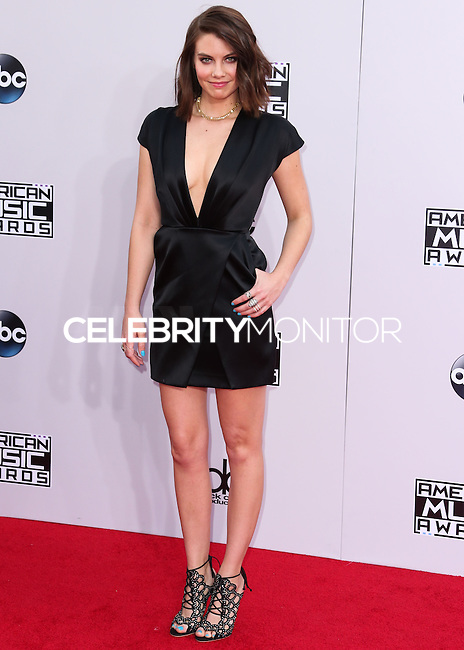 LOS ANGELES, CA, USA - NOVEMBER 23: Lauren Cohan arrives at the 2014 American Music Awards held at Nokia Theatre L.A. Live on November 23, 2014 in Los Angeles, California, United States. (Photo by Xavier Collin/Celebrity Monitor)