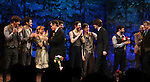 Arnie Burton, John Sanders, Rick Holmes, Adam Chandler-Berat, Celia Keenan-Bolger, Roger Rees, Christian Borle, Alex Timbers, Rick Elice, Kevin Del Aguila & Carson Elrod.during the Broadway Opening Night Performance Curtain Call for 'Peter And The Starcatcher' at the Brooks Atkinson Theatre on 4/15/2012 in New York City.