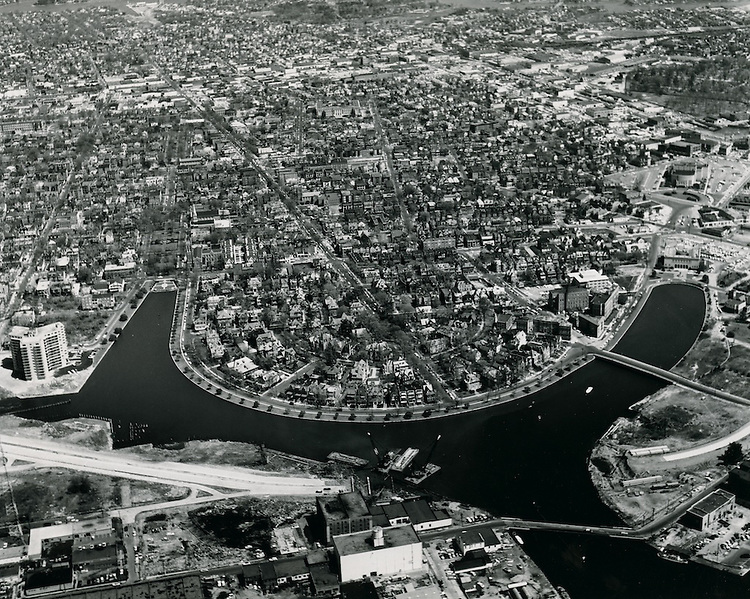 1962 April 09..Redevelopment.Ghent (R-43).Atlantic City (R-1)..View looking North.Brambleton Avenue bridge under construction.Fariss Pictures.NEG# 11697.NRHA# 960-E..