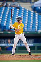 Ashtin Webb (12) of Mesa High School in Mesa, AZ during the Perfect Game National Showcase at Hoover Metropolitan Stadium on June 17, 2020 in Hoover, Alabama. (Mike Janes/Four Seam Images)