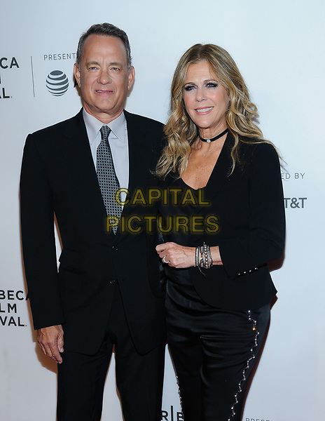 26 April 2017 - New York, New York - Tom Hanks, Rita Wilson. &quot;The Circle&quot; screening at Tribeca Film Festival. <br /> CAP/ADM/MSA<br /> &copy;MSA/ADM/Capital Pictures