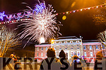 Fireworks in Denny Street, Tralee for New Year's Eve on Monday night.