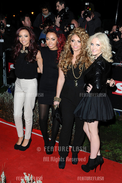 Little Mix arriving for The Sun Military Awards 2011 at the Imperial war Museum, London. 19/12/2011 Picture by: Steve Vas / Featureflash