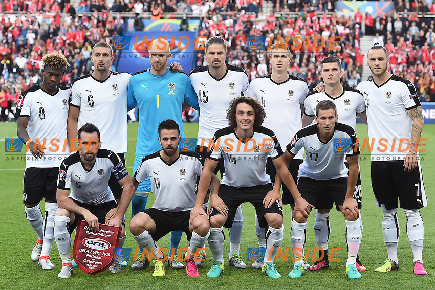 formazione Austria Team Line Up <br /> Paris 18-06-2016 Parc Des Princes Football Euro2016 Portugal - Austria / Portogallo - Austria Group Stage Group F. Foto Matteo Gribaudi / Image Sport / Insidefoto