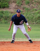 Cleveland Indians minor leaguer Josh Rodriguez during Spring Training at the Chain of Lakes Complex on March 16, 2007 in Winter Haven, Florida.  (Mike Janes/Four Seam Images)