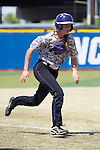 21 MAY 2016:  Courtney Shields (7) of the University of North Alabama races towards home against Humboldt State University during the Division II Women's Softball Championship held at the Regency Athletic Complex on the Metro State University campus in Denver, CO.  North Alabama defeated Humboldt State 4-1 to win the national title.  Jamie Schwaberow/NCAA Photos