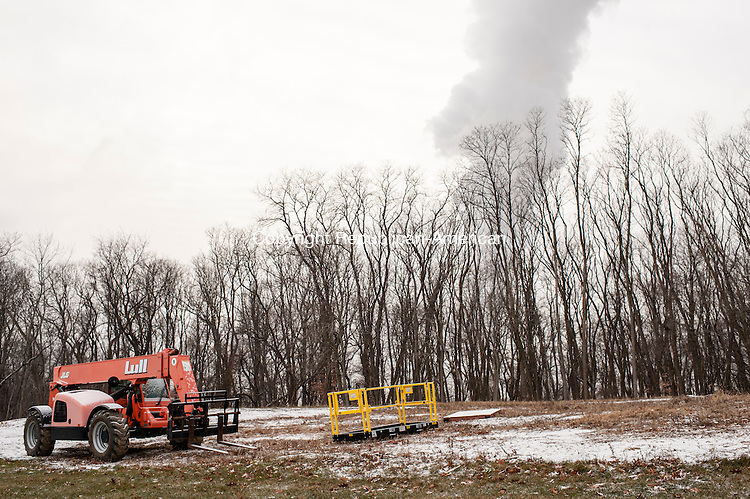 MILFORD, CT-7 January 2015-010715EC05-  Milford Power is located along Shelland Street in Milford. Steam can be seen from the future site of a residential development across the street from the property. Erin Covey Republican-American