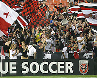 Fans of D.C. United during an MLS match against Chivas USA at RFK Stadium, on May 29 2010 in Washington DC. United won 3-2.