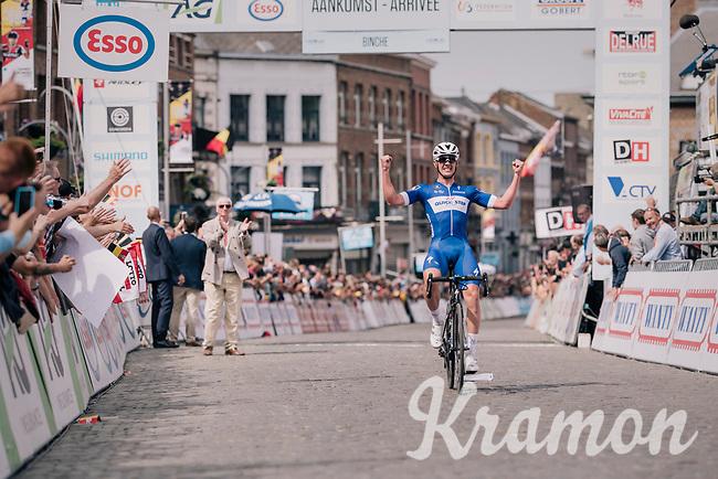 Victory for Yves Lampaert (BEL/Quick-Step Floors); becoming Belgian elite national champion at 27<br /> <br /> Belgian National Championships 2018 (road) in Binche (224km)<br /> ©kramon