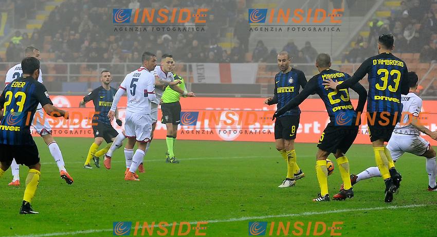 Gol di Marcelo Brozovic Inter 1-0. Celebration goal<br /> Milano 11-12-2016 Stadio Giuseppe Meazza - Football Calcio Serie A Inter - Genoa. Foto Giuseppe Celeste / Insidefoto