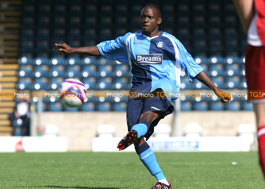 Nathan Ashton of Wycombe Wanderers, former Charlton and Fulham player who represented England at U19 level during Wycombe Wanderers vs Southend United, Friendly Match Football at Adams Park on 2nd August 2008