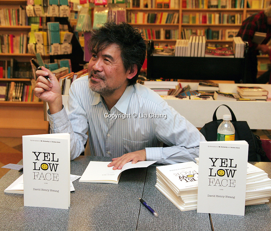 David Henry Hwang, Edward Albee, Francis Jue and Kathryn Layng at a reading and book signing for Yellow Face at The Drama Book Shop on December 10, 2009. © Lia Chang