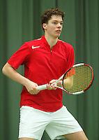 10-3-06, Netherlands, tennis, Rotterdam, National indoor junior tennis championchips, Joost Vogel