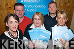 EMPLOYMENT; Promoting their services for people with disabilities at the Kerry Supported Employment centre in Tralee on Monday were, l-r: Darragh Casey, Tom Kennedy, Miriam Ryan, Audrey O'Sullivan and Mark Woods.   Copyright Kerry's Eye 2008