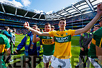 Ryan O'Neill and Nelu O'Doherty Kerry players celebrate after defeating Derry in the All-Ireland Minor Footballl Final in Croke Park on Sunday.