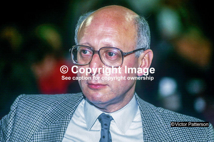 Gerald Kaufman, MP, Shadow Home Secretary, Labour Party, UK, annual conference, September 1986, 19860914GK1<br />