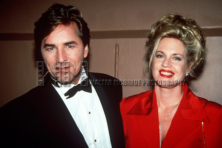 Don Johnson and Melanie Griffith at the American Teacher awards at Epcot Center in Disney World Florida on November 19th, 1993.