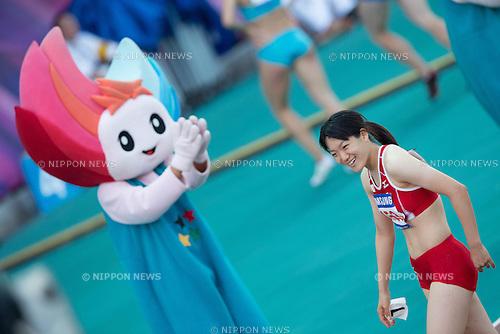 Anna Doi, (JPN), JULY 9, 2015 - Athletics : The 28th Summer Universiade 2015 Gwangju Women's 100m Final at the Gwangju Universiade Main Studium in Gwangju, South Korea. (Photo by Takashi OKUI/AFLO)