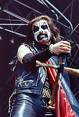 MERCYFUL FATE - King Diamond - performing lin at the Heavy Sound Festival held at the Sportsfield in Poperinge Belgium - 10 Jun 1984.  Photo credit: PG Brunelli/IconicPix
