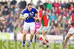 Declan O'Sullivan Kerry in action against JasonDoherty Mayo in the National Football League in Austin Stack Park on Sunday..