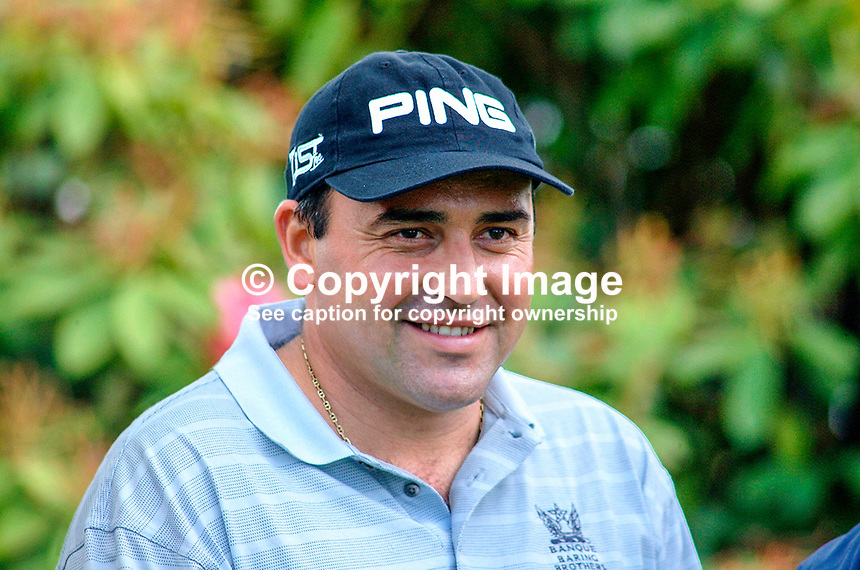Angel Cabrera, professional golfer, Argentina. Picture taken during pro-am before the Smurfit European Golf Championship at the K Club, Co Kildare, Rep of Ireland. Ref: 200207035951...Copyright Image from Victor Patterson, 54 Dorchester Park, Belfast, UK, BT9 6RJ..Tel: +44 28 9066 1296.Mob: +44 7802 353836.Voicemail +44 20 8816 7153.Skype: victorpattersonbelfast.Email: victorpatterson@mac.com.Email: victorpatterson@ireland.com (back-up)..IMPORTANT: If you wish to use this image or any other of my images please go to www.victorpatterson.com and click on the Terms & Conditions. Then contact me by email or phone with the reference number(s) of the image(s) concerned.