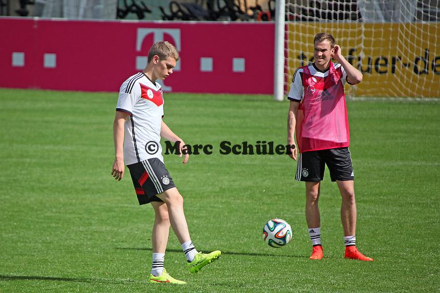 Matthias Ginter und Kevin Großkreutz - Training der Deutschen Nationalmannschaft  zur WM-Vorbereitung in St. Martin