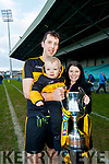 Baby Shane, Michelle and Michael Moloney, pictured at the Munster Senior Club final Dr. Crokes v St Joseph's Miltown-Malbay at the Gaelic Grounds Limerick, on Sunday last.