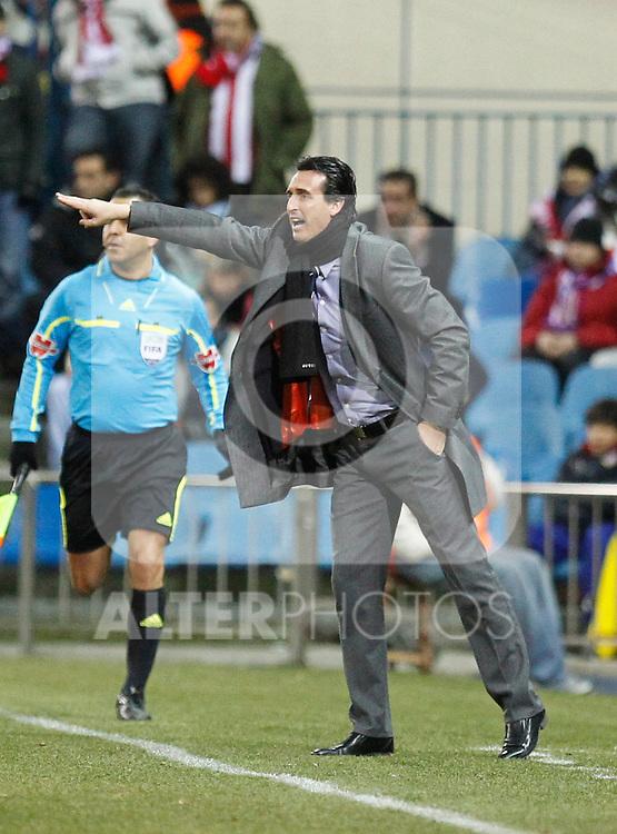 Madrid (05/02/2012) LIGA BBVA.Atletico de Madrid- Valencia C.F...Unai Emery.....