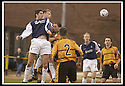 29/03/2003                   Copright Pic : James Stewart.File Name : stewart-alloa v falkirk 06.STUART TAYLOR RISES ABOVE THE ALLOA DEFENCE TO SCORE FALKIRK'S THIRD......James Stewart Photo Agency, 19 Carronlea Drive, Falkirk. FK2 8DN      Vat Reg No. 607 6932 25.Office     : +44 (0)1324 570906     .Mobile  : +44 (0)7721 416997.Fax         :  +44 (0)1324 570906.E-mail  :  jim@jspa.co.uk.If you require further information then contact Jim Stewart on any of the numbers above.........