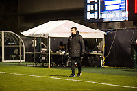 Seattle, WA - Thursday, March, 08, 2018: Seattle Reign FC head coach Vlatko Andonovski during a preseason match between the Seattle Reign FC and University of Washington at Husky Soccer Stadium.