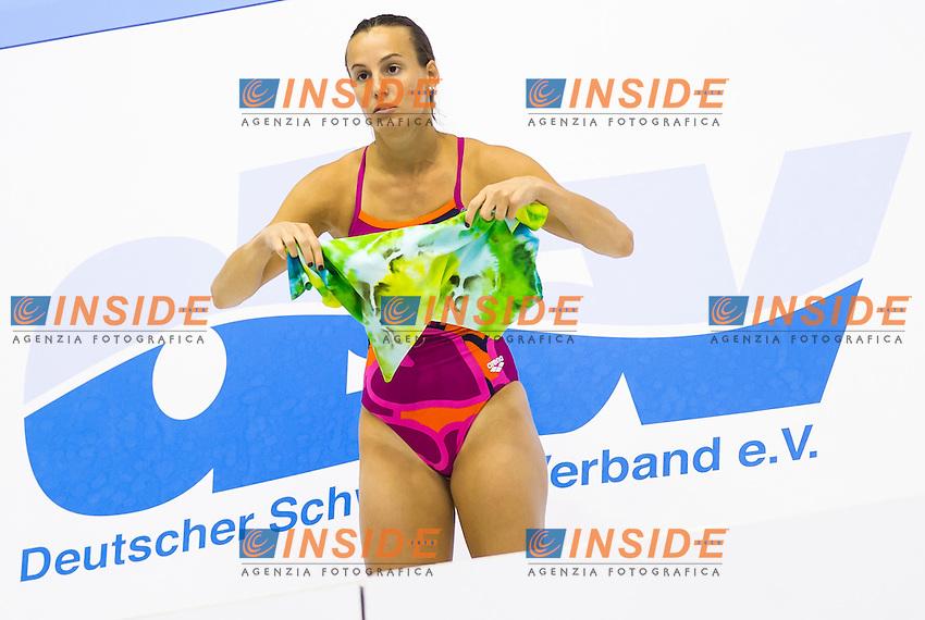Tania Cagnotto ITA<br /> 1m Springboard Women preliminary<br /> Day 04 12/06/2015  <br /> 2015 Arena European Diving Championships<br /> Neptun Schwimmhalle<br /> Rostock Germany 09-14 June 2015 <br /> Photo Giorgio Perottino/Deepbluemedia/Insidefoto