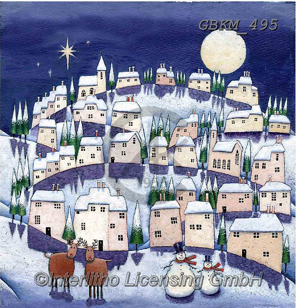 Kate, CHRISTMAS LANDSCAPES, WEIHNACHTEN WINTERLANDSCHAFTEN, NAVIDAD PAISAJES DE INVIERNO, paintings+++++Christmas Page 14,GBKM495,#xl#