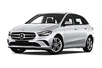 Stock pictures of low aggressive front three quarter view of 2019 Mercedes Benz B-Class - 5 Door Mini Mpv Low Aggressive