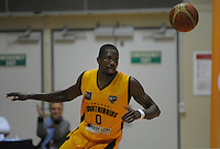Suleiman Braimoh in action during the national basketball league match between Wellington Saints and Taranaki Mountainairs at TSB Bank Arena, Wellington, New Zealand on Friday, 17 June 2014. Photo: Dave Lintott / lintottphoto.co.nz
